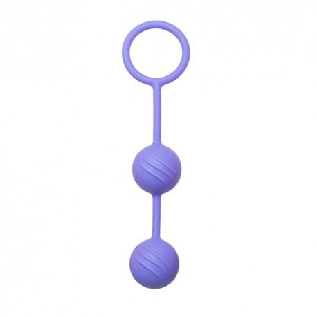 Liebeskugeln halb geriffelt - Violett