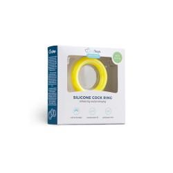 Penisring aus Silikon - Gelb S