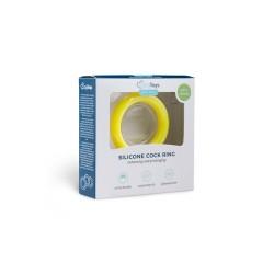 Penisring aus Silikon - Gelb L