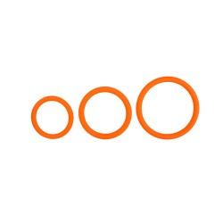 Penisringe - Set mit drei Größen - Orange